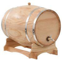 vidaXL veinivaat kraaniga, männipuit, 35 l