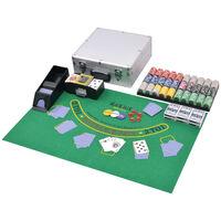 vidaXL 600 laseržetooniga komplekt pokker/blackjack alumiiniumkohvris