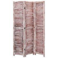 vidaXL 3 paneeliga sirm, pruun, 105 x 165, puit