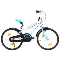 vidaXL laste jalgratas 18'', sinine ja valge