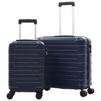vidaXL kõvakattega kohver 2 tk tumesinine ABS