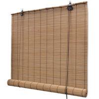 vidaXL ruloo, bambus 80 x 220 cm, pruun