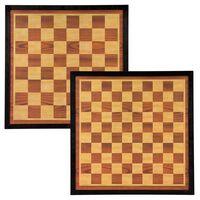 Abbey Game male- ja kabelaud 41 x 41 cm, puit, pruun ja beež