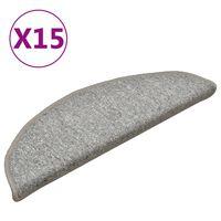 vidaXL trepivaibad 15 tk, helehall, 56 x 17 x 3 cm