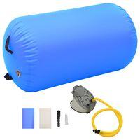vidaXL täispumbatav võimlemisrull pumbaga 100x60 cm PVC sinine