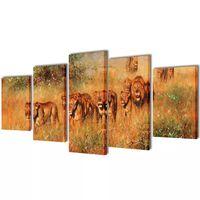 Seinamaalikomplekt lõvidega, 100 x 50 cm