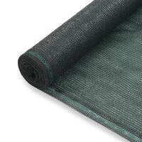 vidaXL tenniseväljaku võrk, HDPE, 1 x 50 m, roheline