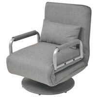 vidaXL pöörlev tool ja diivanvoodi, helehall, kangas