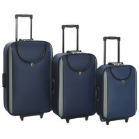 vidaXL pehmed kohvrid, 3 tk, tumesinine, oxford-kangas