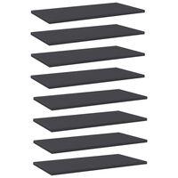 vidaXL riiuliplaadid 8 tk, hall, 60x30x1,5 cm, puitlaastplaat