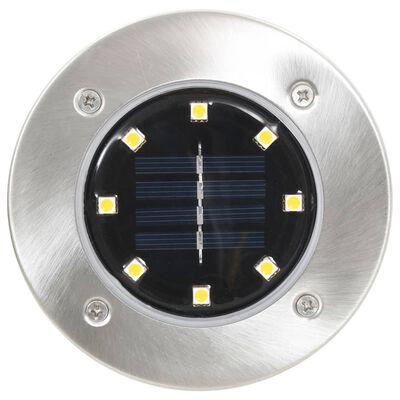 vidaXL päikesepatareidega maapinnavalgustid, 8 tk LED-tuled, soe valge