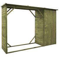 vidaXL puukuur/aiakuur, männipuidust, 253 x 80 x 170 cm