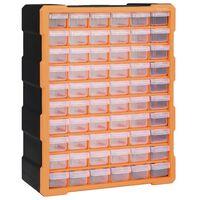 vidaXL mitme sahtliga organiseerija 60 sahtliga 38 x 16 x 47,5 cm