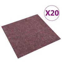 vidaXL põrandavaiba plaadid 20 tk, 5 m², tumepunane