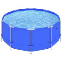 vidaXL bassein terasraamiga, 367x122 cm, sinine