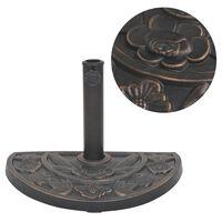 vidaXL poolringikujuline päevavarju alus, vaigust, pronksjas, 9 kg