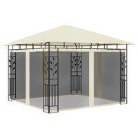 vidaXL varjualune sääsevõrguga, 3 x 3 x 2,73 m, kreemjas, 180 g/m²