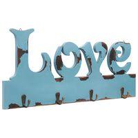 vidaXL seinale kinnitatav riidenagi, LOVE, 50 x 23 cm