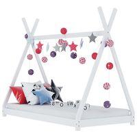 vidaXL lastevoodi raam, valge, männipuit, 90 x 200 cm