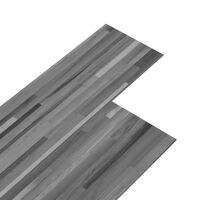 vidaXL PVC-st põrandaplaadid, 4,46 m² 3 mm, triibuline hall