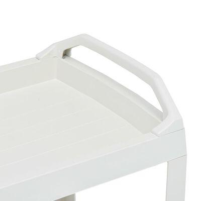 vidaXL joogikäru, valge, 69 x 53 x 72 cm, plastist