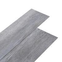 vidaXL PVC-st põrandalauad 5,02 m², 2 mm, iseliimuv, mattpuit, hall