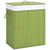 vidaXL bambusest pesukorv, roheline 100 l