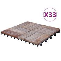 vidaXL terrassiplaadid 33 tk, 30 x 30 cm, taaskasutatud puit