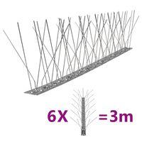 vidaXL 5-realine roostevabast terasest linnupiigid, 6 tk, 3 m