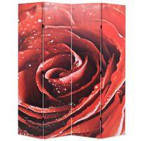 vidaXL kokkupandav sirm 160 x 170 cm, punane roos