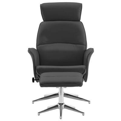 vidaXL allalastava seljatoega tool, jalapingiga, antratsiit, kunstnahk, Antratsiithall