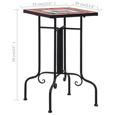 vidaXL mosaiikplaadiga laud, terrakota ja valge, keraamiline