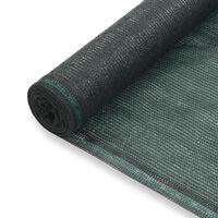 vidaXL tenniseväljaku võrk, HDPE, 2 x 25 m, roheline