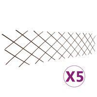 vidaXL pajust võreaiad 5 tk, 180 x 60 cm