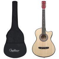 vidaXL 12-osaline akustilise kitarri komplekt 6 keelega, 38''