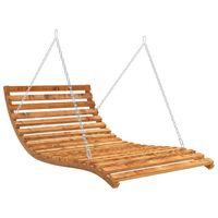 vidaXL aiakiik-voodi, tiikpuu viimistlusega kuusk, 143x120x65 cm