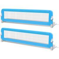 vidaXL voodiäär väikelapse voodile, 2 tk, 150 x 42 cm, sinine