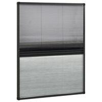 vidaXL plisseeritud putukavõrk aknale, alumiinium, 80 x 100 cm rulooga