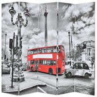 vidaXL kokkupandav sirm 200 x 170 cm, Londoni buss, must ja valge