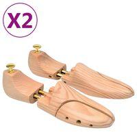 vidaXL kingapuud 2 paari suurus 42–43 männipuit