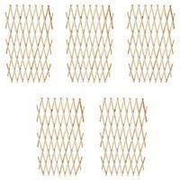 vidaXL võreaed 5 tk, täispuit, 180 x 90 cm