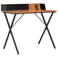 vidaXL laud, must ja pruun, 80 x 50 x 84 cm