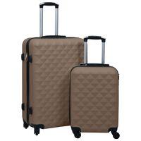 vidaXL kõvakattega kohver 2 tk pruun ABS