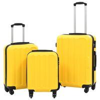 vidaXL kõvakattega kohver 3 tk kollane ABS