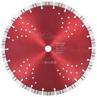 vidaXL teemantlõikeketas turbo ja aukudega, teras, 300 mm