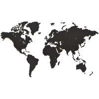 """MiMi Innovations puidust seina maailmakaart, """"Luxury"""" must, 90x54 cm"""