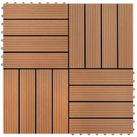 vidaXL terrassiplaadid 22 tk, 30 x 30 cm, 2 m², WPC, pruun