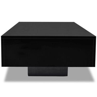 vidaXLi kõrgläikega kohvilaud, must