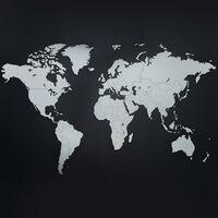 """MiMi Innovations puidust seina maailmakaart, """"Luxury"""" valge, 130x78 cm"""