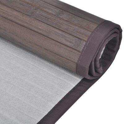 Bambusest vannimatid 2 tk 40 x 50cm, tumepruun